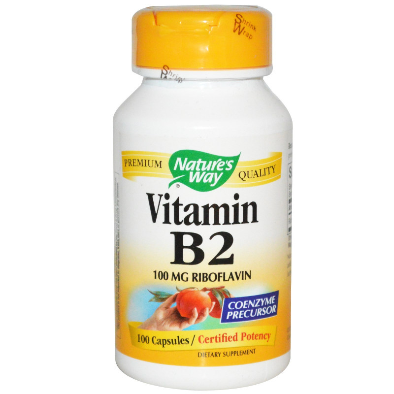 Vitamin B2 (Riboflavin) - (100mg) - 100 caps - Natures Way