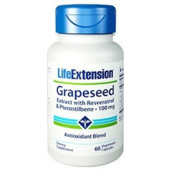 Grapeseed Extract with Resveratrol & Pterostilbene, 100 mg 60 vegetarian capsules